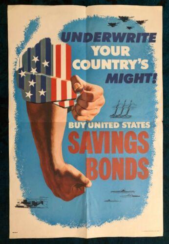 Original Poster Vietnam War Uncle Sam Buy War Bonds Army Navy Airforce Homefront
