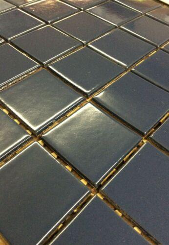 """Vintage Tile New Old Stock Summitville #Q2-578 Dark Blue Glazed 2"""" x 2"""" Tiles"""