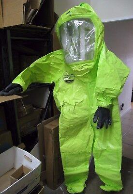 Dupont Tychem Tk Commander Level A Suit Tk551 Tlv Large Expandable Back Hazmat