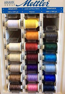 METTLER METROFLOCK THREAD- 1094 YARDS- VARIOUS COLORS (Mettler Overlock Thread)