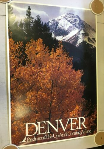 Vintage Piedmont Airline Denver The Up and Coming Poster Aviation Advertising