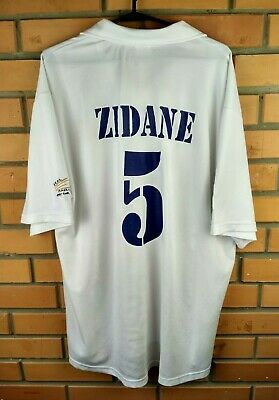 6a4bf3d34 Zidane Real Madrid jersey XL 2002 2005 home shirt soccer football Adidas