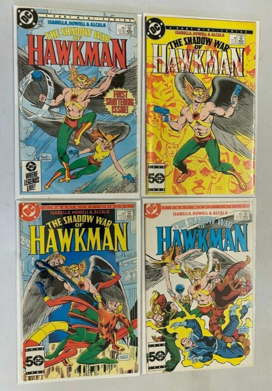 Shadow War of Hawkman set from:#1-4 all 4 different books 8.5 VF+ (1985)