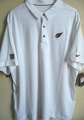 Arizona Cardinals Nfl Mens Coaches (NFL Nike Arizona Cardinals Football Sideline Elite Coaches Polo Shirt XXL 837182 )