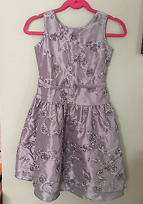 Christmas Dresses For Girls Size 10 (American Girl CL MY AG Silver/Gray Fancy Flower Party Dress for Girls Size)