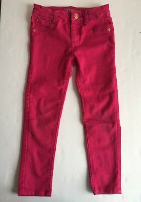 Cherokee Cotton Belt (Cherokee Girls Pants Size 5 Pink Cotton Blend Zip Fly Snap Closure Belt Loops)