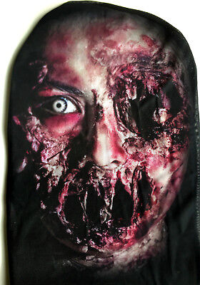 HALLOWEEN FRIGHT NIGHT STRETCH PULL ON HEAD FACE BLOODY MASK SCARY HORROR ZOMBIE ()