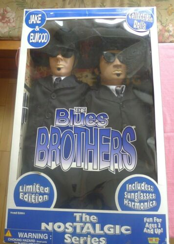 """BLUES BROTHERS {NOSTALGIC SERIES} 27"""" COLLECTIBLE DOLLS"""