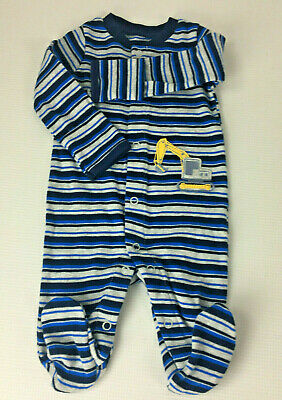 Newborn Boy's Blue Striped Just One You Carter's Long Sleeve Body Suit  Carters Striped Body