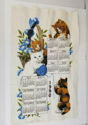 Vtg Kay Dee 1990 Designs Curious Kittens Wall Hanging Calendar 16.5 x 26.5