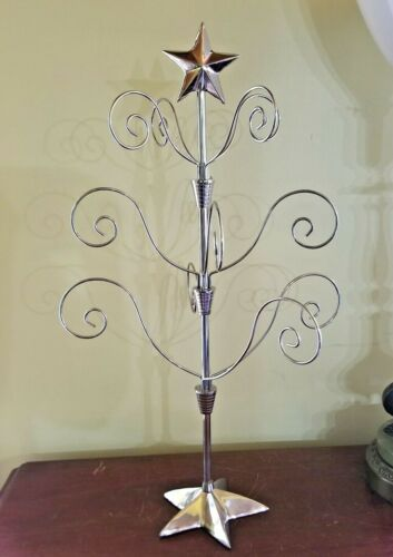 Ornament Display Tree Silver Metal Christmas Tree India 12 Movable Branches 23