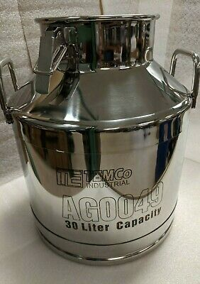 Temco 30 Liter 8 Gallon Stainless Steel Milk Can Manufacturer Defect 20 Off