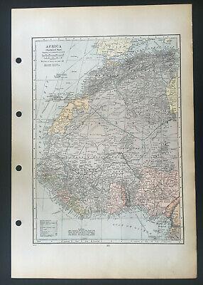 Map Of Africa Northwest Part Sahara Morocco Algeria C1930 Antique