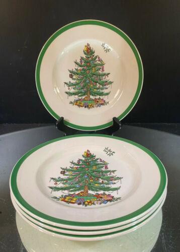 Spode--Christmas Tree--England--Set of (4)-Salad Plates---Five Sets Available