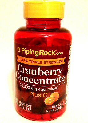 - Ultra Triple Strength Cranberry Concentrate 30,000 Mg w/ Vitamin C USP 90 Pills
