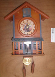 John Wayne  working  musical Chalet  Battery Operated Cuckoo Clock CK2082