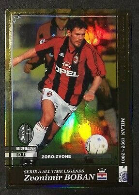 2002-03 Panini WCCF Serie A Legends Zvonimir Boban AC Milan refractor card  for sale  Shipping to South Africa