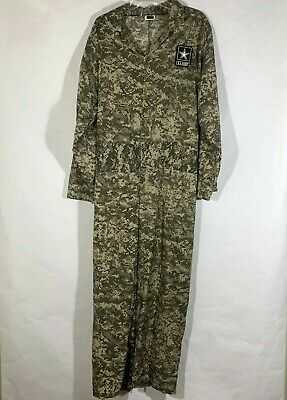 US Army 1 Piece Camo Jumpsuit Adult Front Zip Military Soldier Uniform One Size