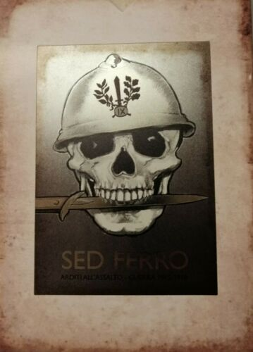 "L116 Book Sed Iron Arditi All' Assault – War 1915/1918 - Casket ""Vintage"""