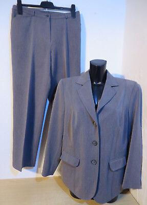 LADY`S ° chicer Hosenanzug Gr. 21/ kurz 42 grau Damen Kleidung Anzug Kombination
