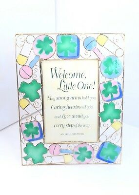 Irish Baby Blessing (Abbey Press Irish Framed Baby Blessing Welcome Little 1 Gold Metal Wire)