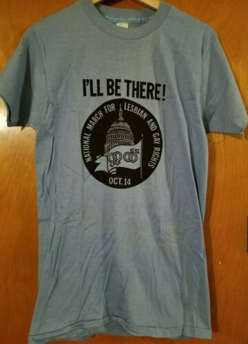 Vintage Gay & Lesbian Rights T Shirt National March on Washington - Oct 14 1979