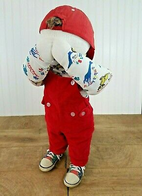 Vtg 27 Child Mannequin Overalls Lion King Shirt W Cap Covering Eyes 90s Era