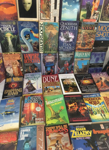 Science Fiction Fantasy Paperback Book Lot - 10 Pounds - No Dupes Free Shipping