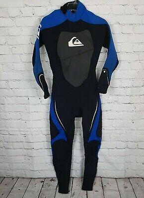 Jet Black Nite Blue Quiksilver 3//2 Prologue Boys Full Wetsuit