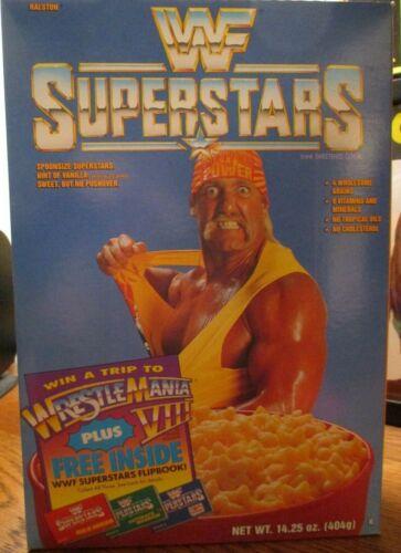 RARE 1991 WWF SUPERSTARS HULK HOGAN SEALED UNOPENED NOS CEREAL BOX HTF