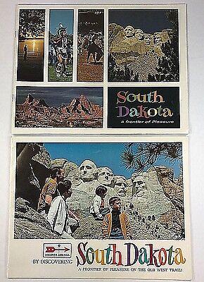 Vintage South Dakota Travel Brochures Guidebooks Maps 1960s 1970s Color Photos