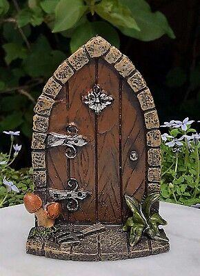 Miniature Dollhouse FAIRY GARDEN Gnome ~ Mini Door with Mushrooms ~ NEW