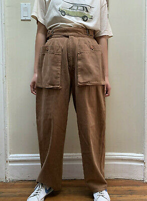 Vintage 1980s Issey Miyake pleated relaxed, baggy crop pant Made in Japan (FLAW)