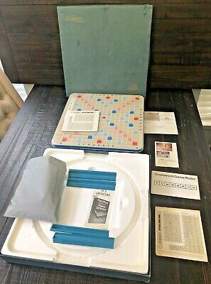 Scrabble Crossword TurnT. Game DeluxE Edition 1977 by Selchow & Righter Company