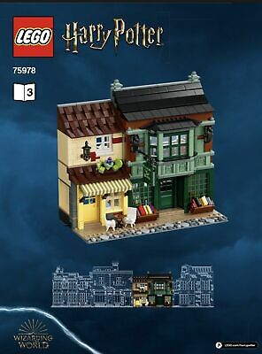 LEGO Harry Potter Diagon Alley 75978 Flourish & Blots + Ice Cream Parlor #3 ONLY