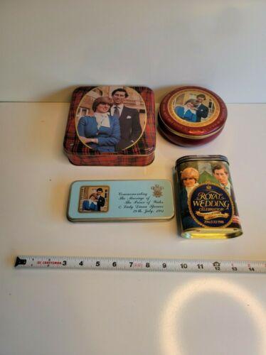 Princess Diana & Prince George Vintage Tin Box Set of 4