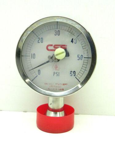 "Chicago Stainless Equipment 37-01A1 Pressure Gauge Regulator 0-60PSI, 3-1/2"""