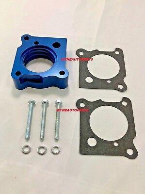 Billet Aluminum Throttle Body - BLUE Billet Aluminum Throttle Body Spacer FOR 01-10 Chrysler PT Cruiser 2.4LN/T