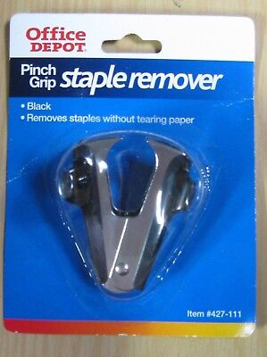 Lot Of Five 5 Office Depot Pinch Grip Staple Remover New