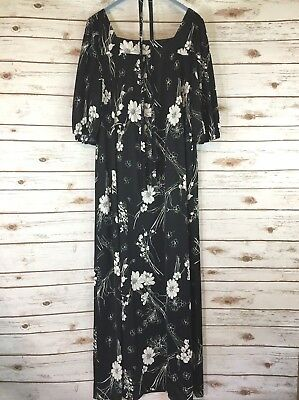 Usado, Princess Kaiulani Muu muu Maxi Dress Carol & Mary Hawaii Aloha Hawaiian Black  segunda mano  Embacar hacia Argentina