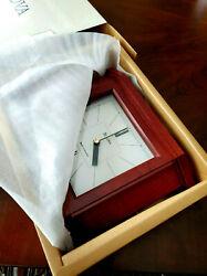 NEW Bulova Wood Clock Tabletop Mantle Shelf Clock B1854 With Box Radio Rare 90s