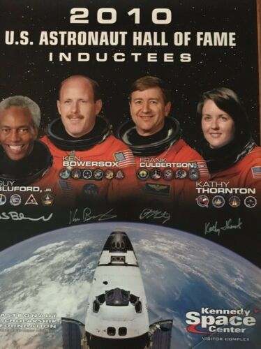 U. S. Astronaut Hall of Fame Class of 2010 Autographed Commemorative Poster