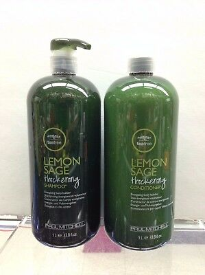 Paul Mitchell Tea Tree Lemon Sage Thickening Shampoo and Conditioner 33.8 Oz DUO