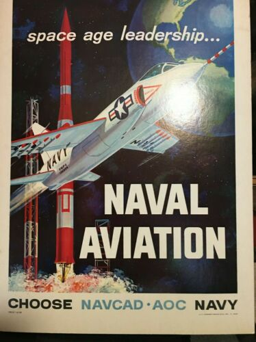 "1959 US Navy Aviation Poster- 19"" x 14"" Naval Aviation - Choose NAVCAD * AOC"