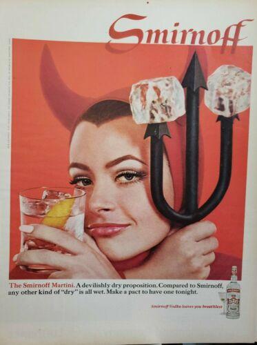 Lot of 12 Vintage Smirnoff Vodka Ads
