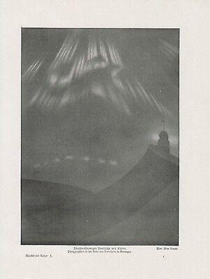 rone Polarlicht DRUCK von 1912 Nordlicht Aurora borealis (Aurora Krone)
