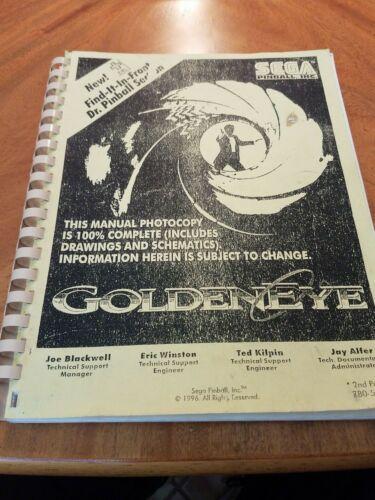 Sega Goldeneye pinball manual