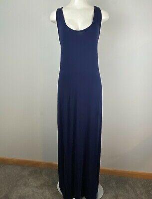 Fabletics Maxi Tank Dress Dark Blue Stretchy Women's T Back Plus Size 2X
