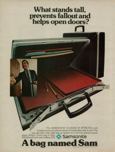 1973 Samsonite Classic III Attache Briefcase What Stands Tall Vintage Print Ad