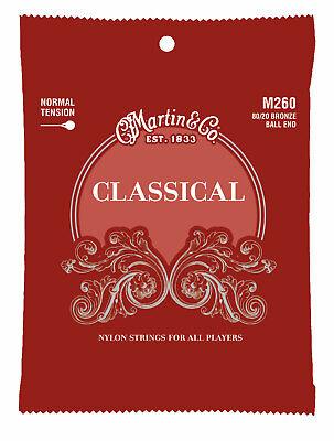 Martin M260 80/20 Bronze Ball-End Regular Tension Nylon  Guitar Strings (28-43)